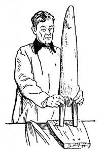 Оправка   шкурки   на правилке