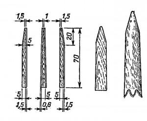 Правилка из трех частей, правилка-доска, стандартно оправленная шкурка кролика
