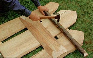 Делаем деревенскую калитку шаг 3