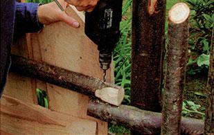 Делаем деревенскую калитку шаг 7