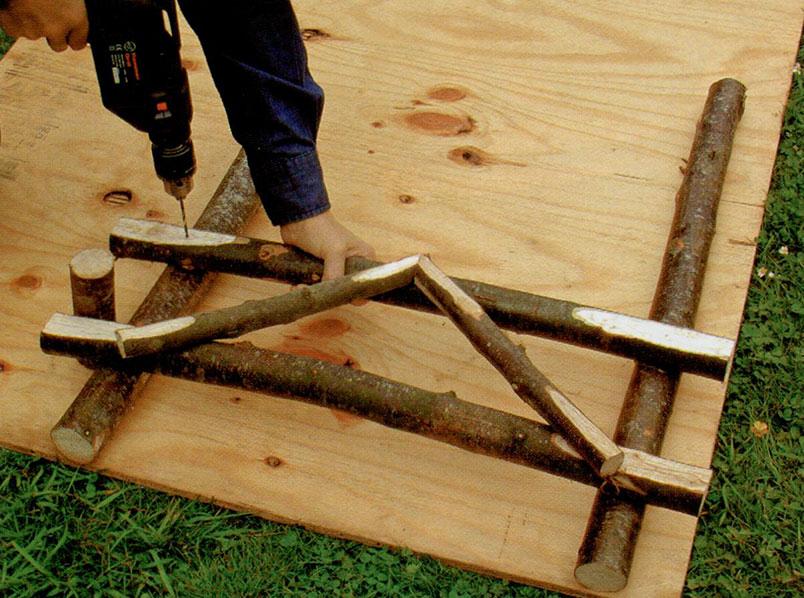 Делаем садовое кресло шаг 2