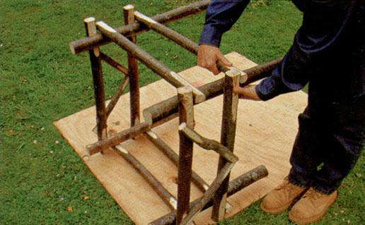 Делаем садовое кресло шаг 3