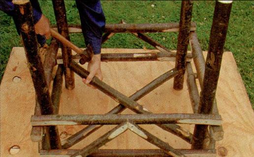 Делаем садовое кресло шаг 4