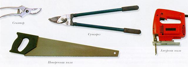 Инструменты для резки древесины