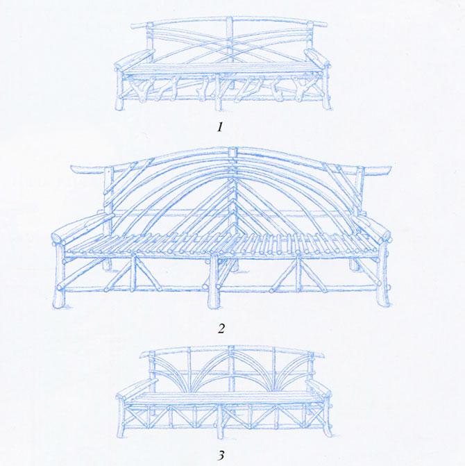 Варианты конструкций содовой скамьи