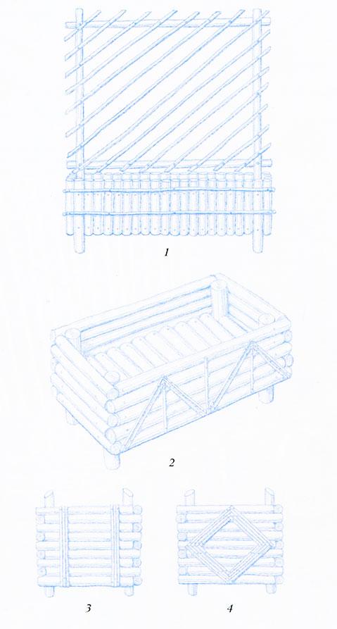 Варианты конструкций деревянных цветочниц
